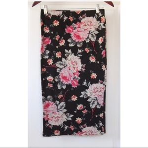 EXPRESS High Waisted Skirt Size Small Floral